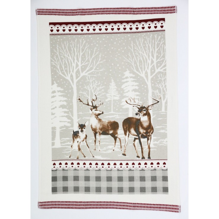 Stylish decorative kitchen towel Deer 50 x 70 cm