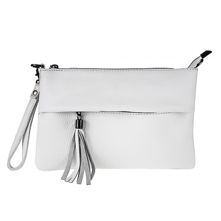 Genuine Leather Handbag 1492 white
