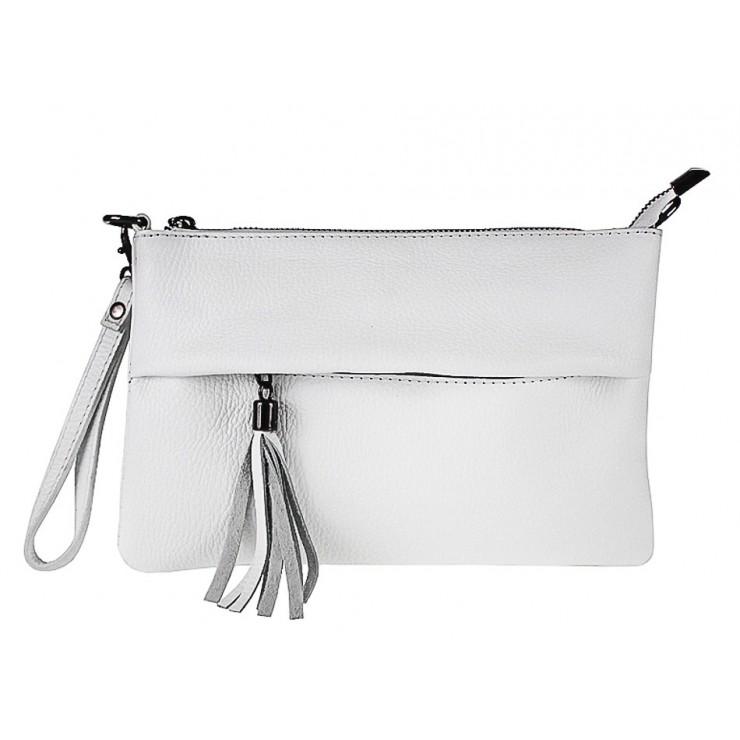 Kožená kabelka 1492 bílá