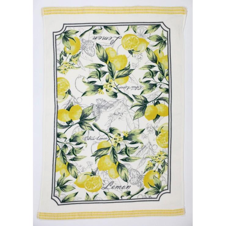 Bavlnená froté utierka Citrus Lemon 50 x 70 cm