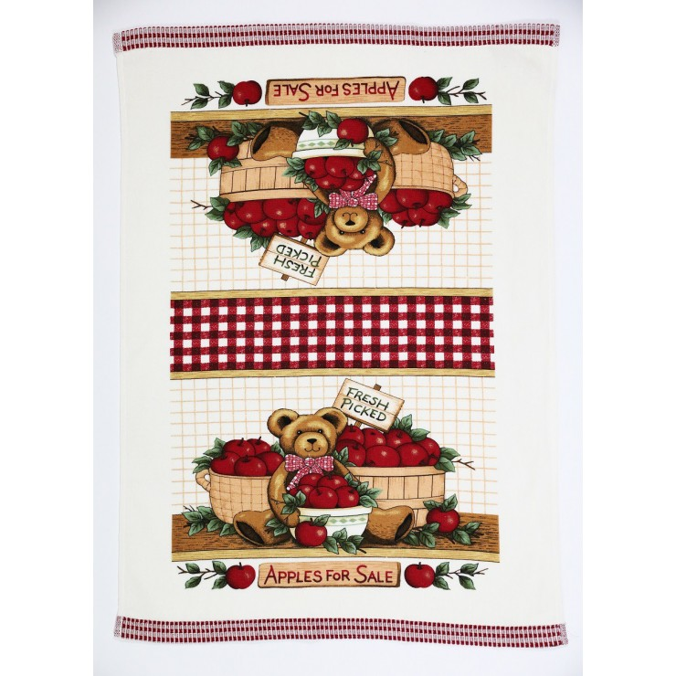Stylish decorative kitchen towel Apple 50 x 70 cm