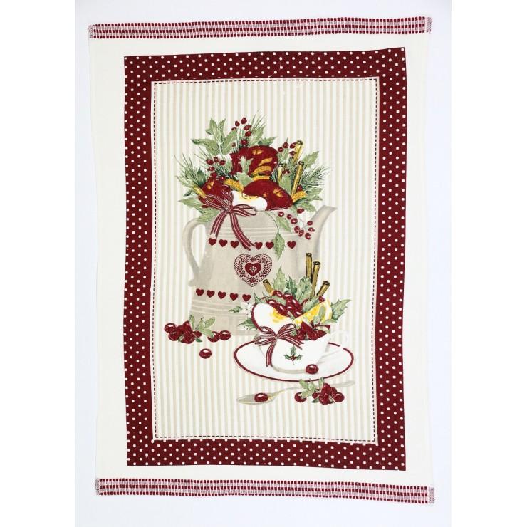 Stylish decorative kitchen towel Christmas 50 x 70 cm