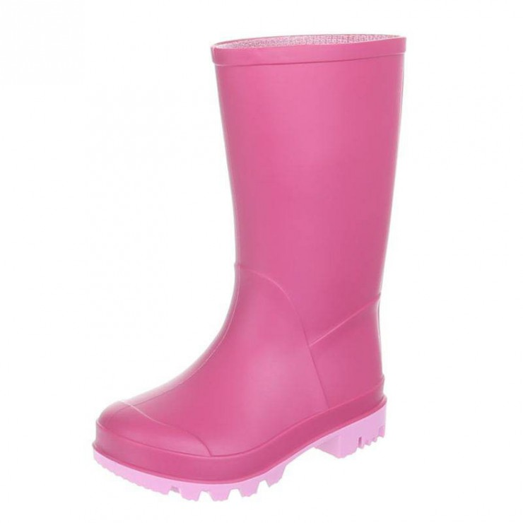 Stivali da pioggia ragazza fucsia