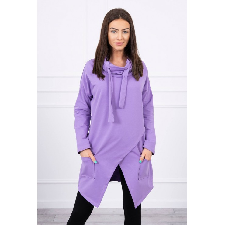 Tunic with envelope front oversize MI0017 purple