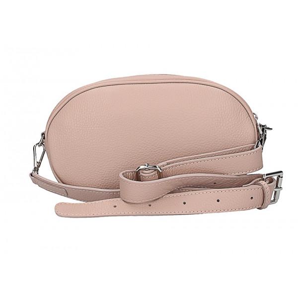 42cd0ce06d Kožená kabelka na rameno 5345 pudrová ružová - MONDO ITALIA s.r.o.