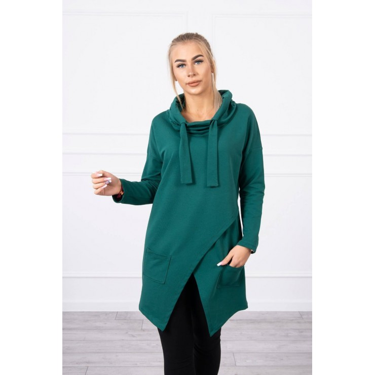 Tunic with envelope front oversize MI0017 green