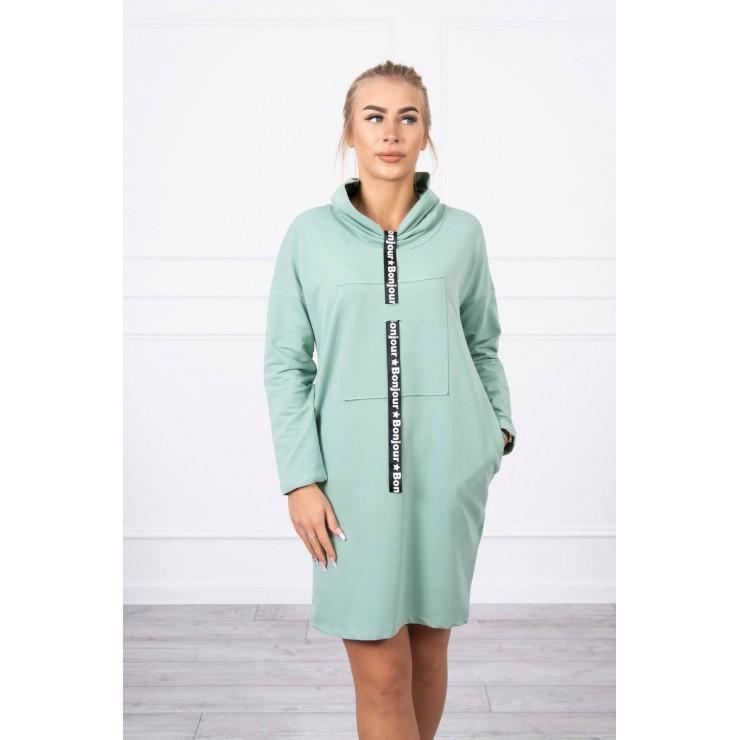 Šaty s kapucňou Bonjour MI0153 tmavá mäta