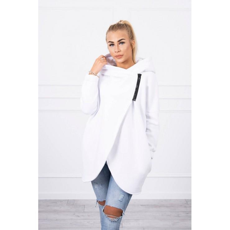 Women's sweatshirt with short zipper MI9110 white