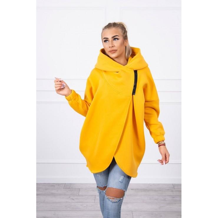 Women's sweatshirt with short zipper MI9110 mustard
