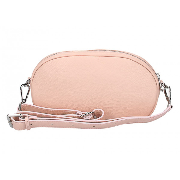 216a4525bb Kožená kabelka na rameno 5345 ružová - MONDO ITALIA s.r.o.