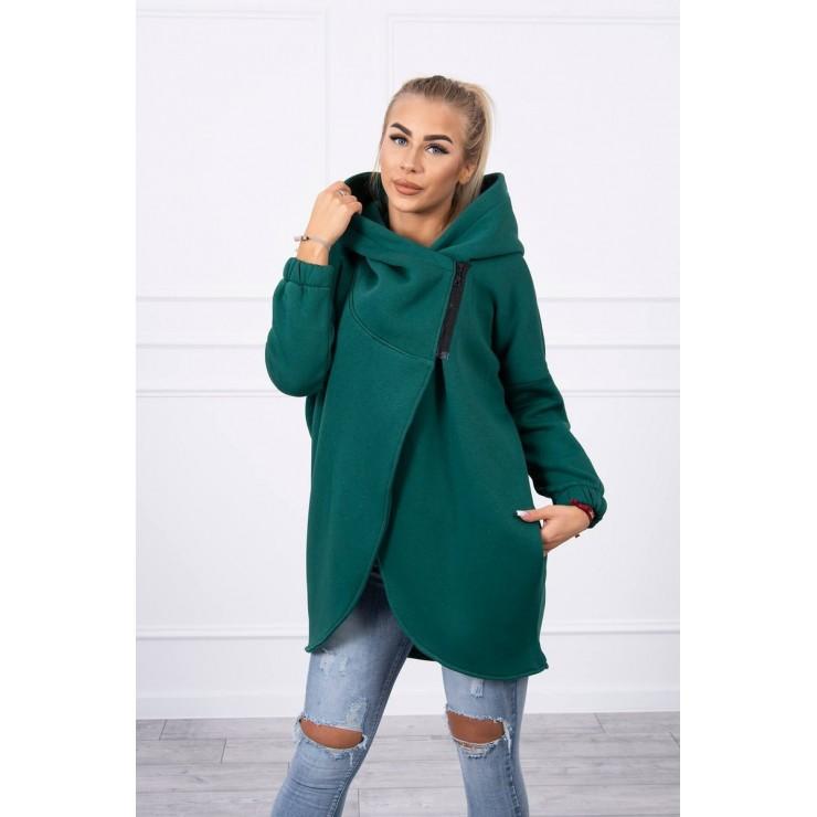 Women's sweatshirt with short zipper MI9110 green