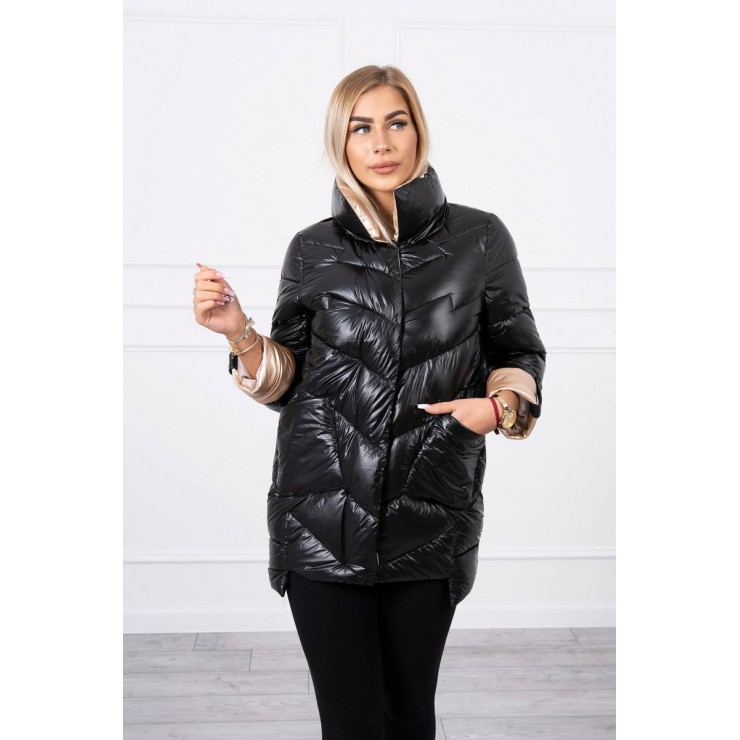 Quilted jacket with collar MI203 black
