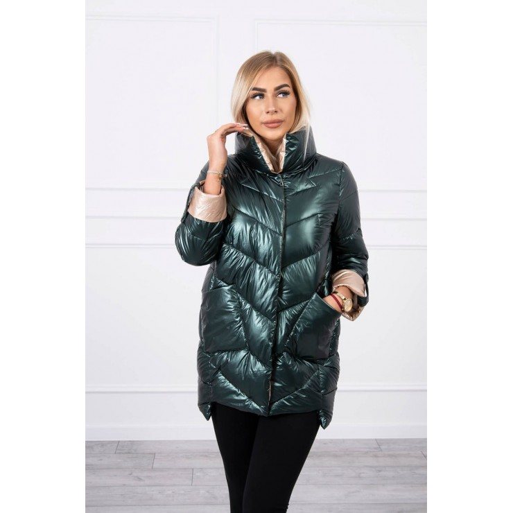 Quilted jacket with collar MI203 green