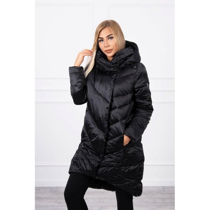 Zimná bunda MI19 lesklá čierna