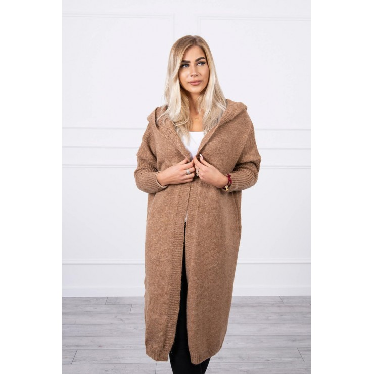 Dámsky sveter s kapucňou MI2020-14 camel