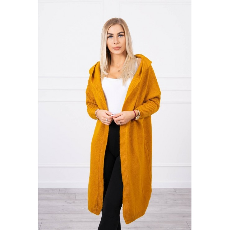 Sweater with hood MI2020-14 dark mustard