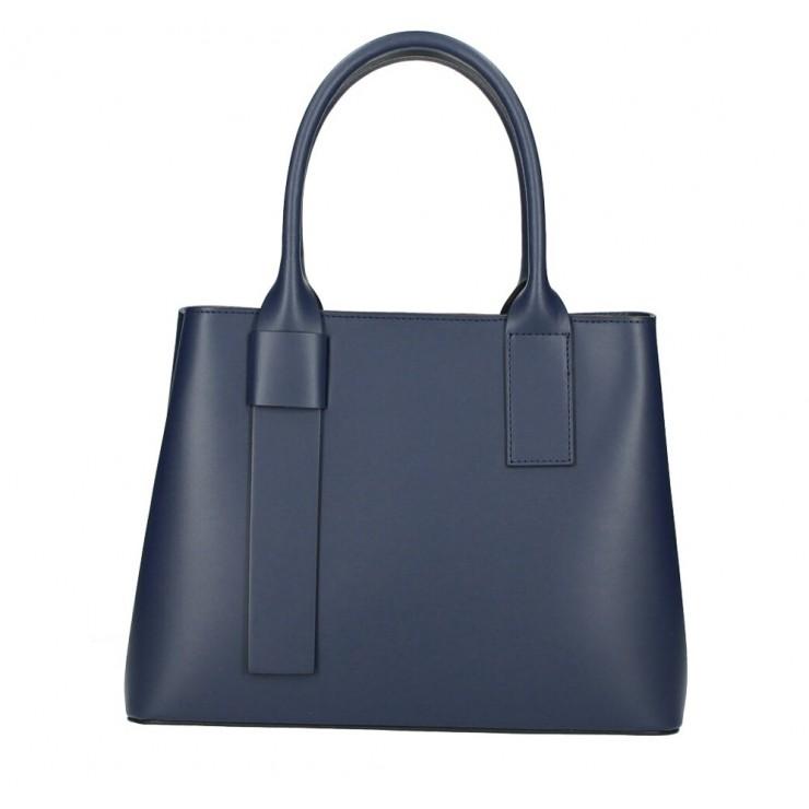 Kožená kabelka 158 modrá Made in Italy