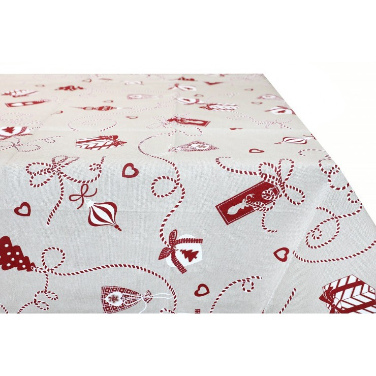 Cotton Christmas tablecloth 759L Made in Italy