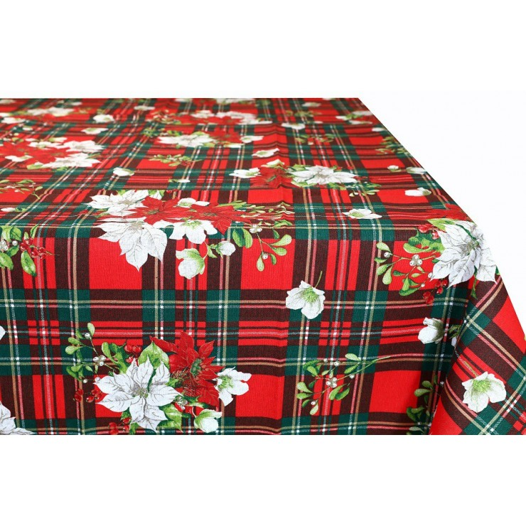 Cotton Christmas tablecloth 90x90 cm Made in Italy