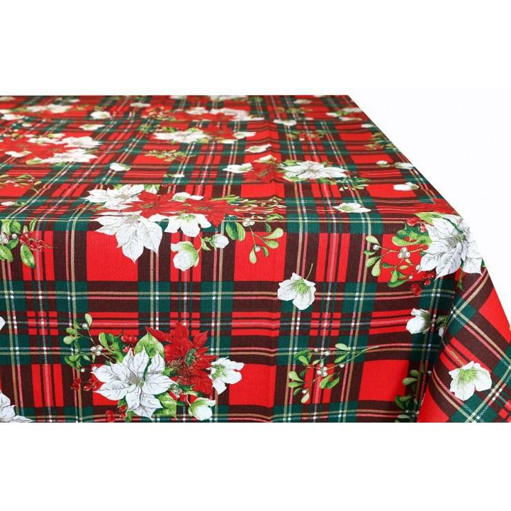 Vianočný bavlnený obrus 90x90 cm Made in Italy