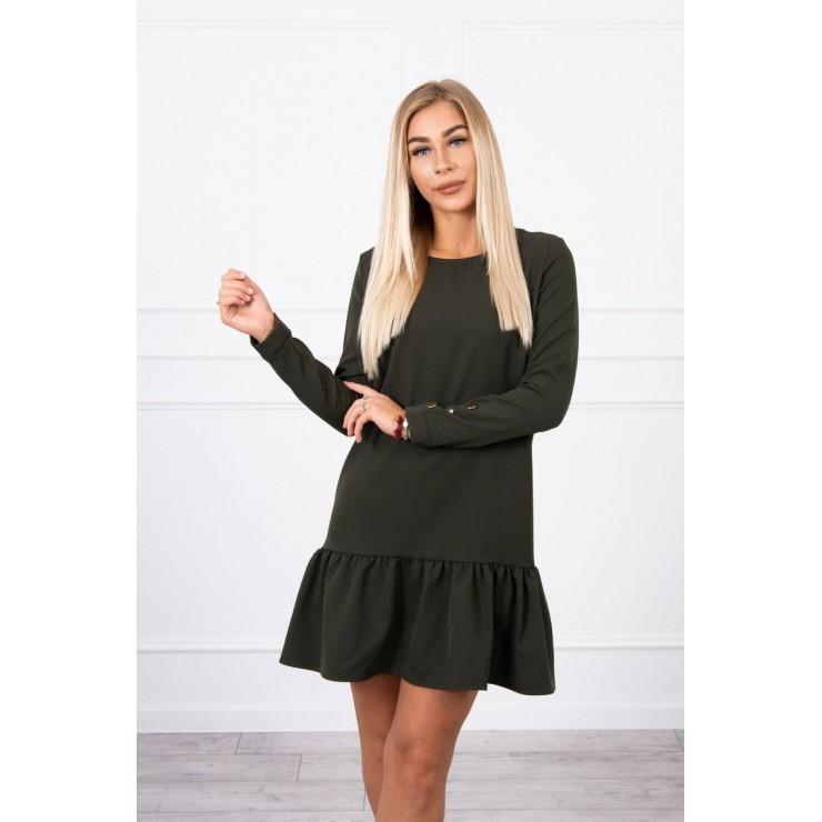 Dress with a flounce MI66188 khaki