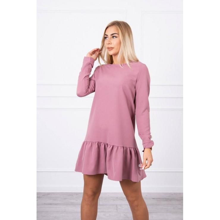 Dámske šaty s volánom MI66188 ružové