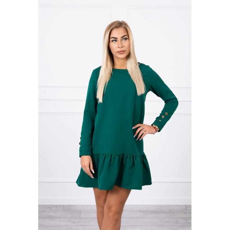 Dámske šaty s volánom MI66188 zelené