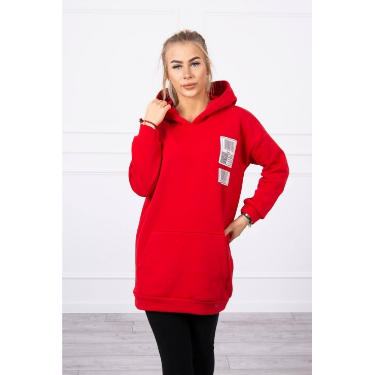 Hooded dress with e hood MI9147 red