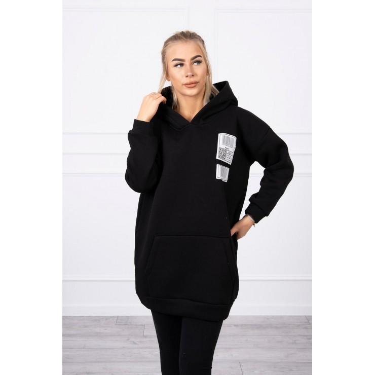Hooded dress with e hood MI9147 black