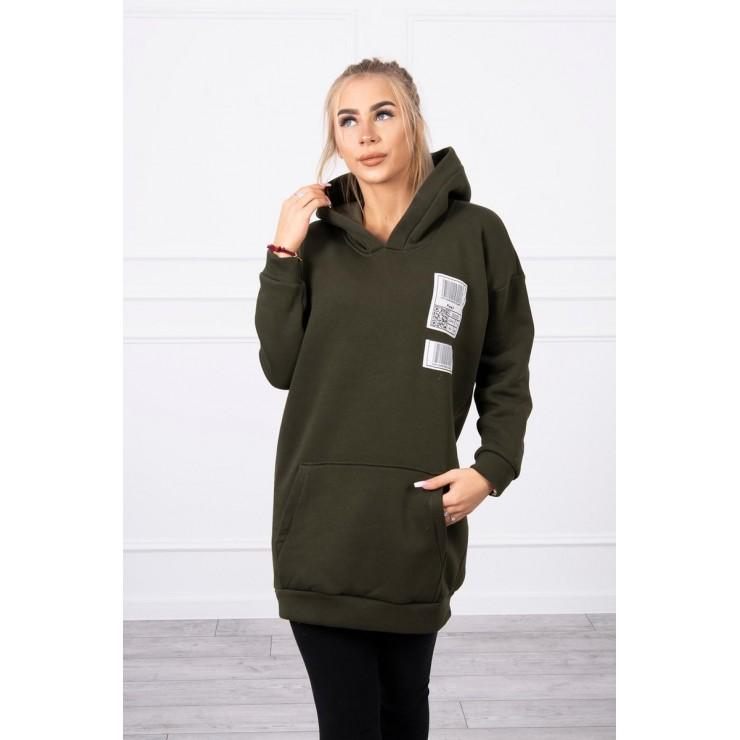 Hooded dress with e hood MI9147 khaki
