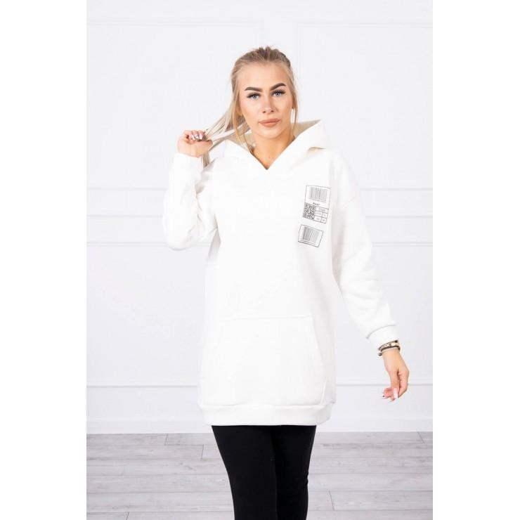 Hooded dress with e hood MI9147 cream