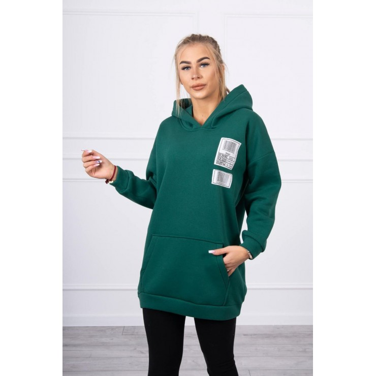 Hooded dress with e hood MI9147 green