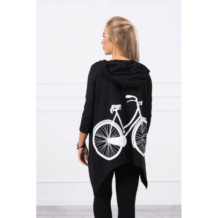 Dámska mikina s potlačou bicykla MI9139 čierna