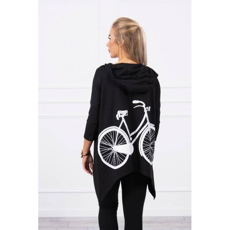 Women's sweatshirt with print of bicycle MI9139 black