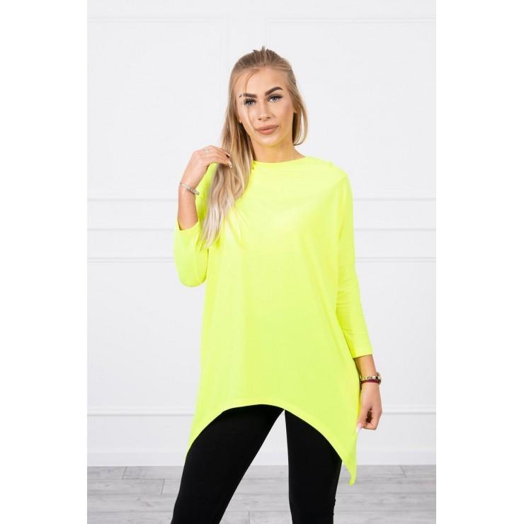 Women's sweatshirt with print of bicycle MI9139 yellow neon