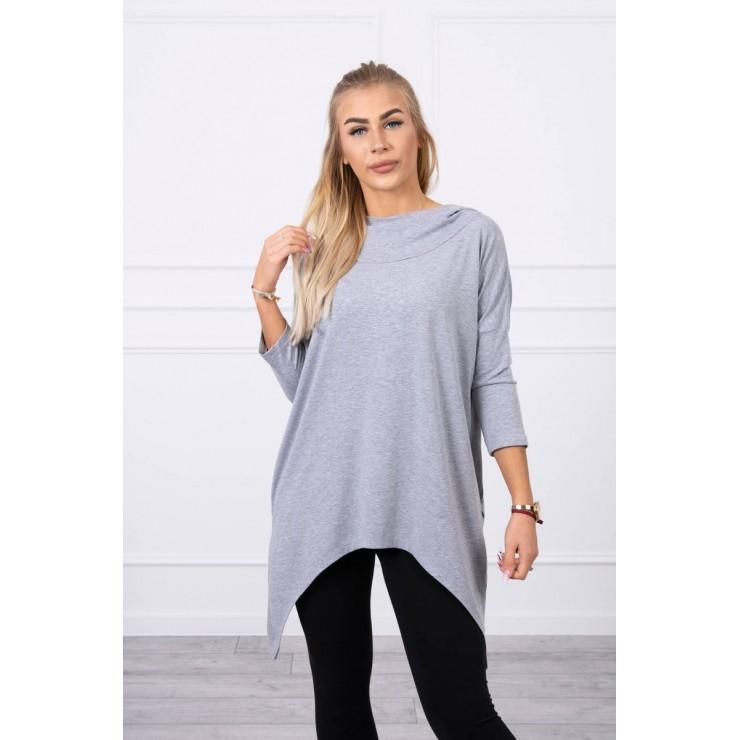 Women's sweatshirt with print of bicycle MI9139 gray
