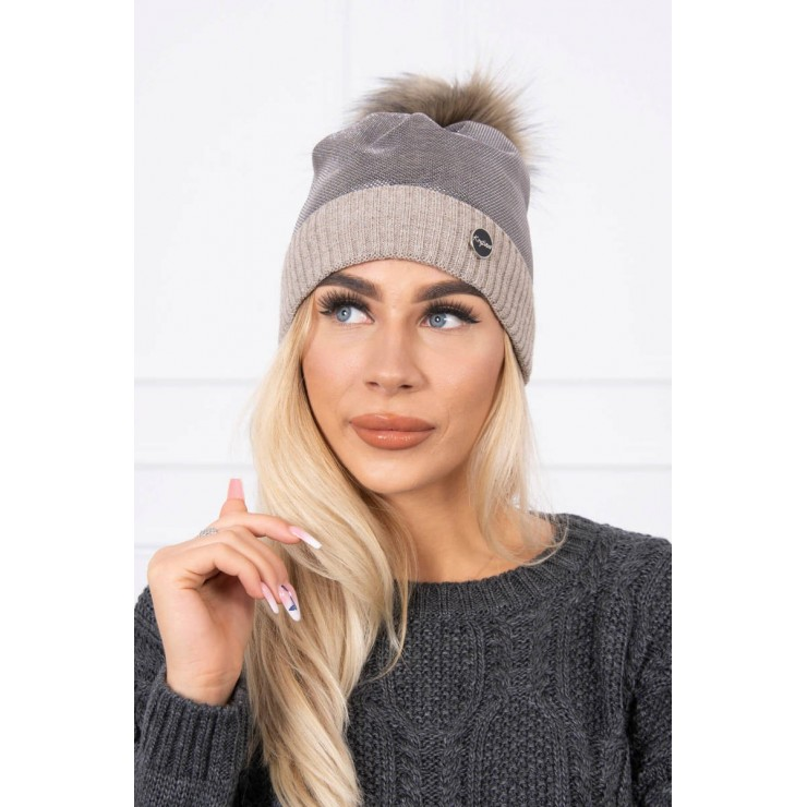 Women's Winter Hat MIK146 beige