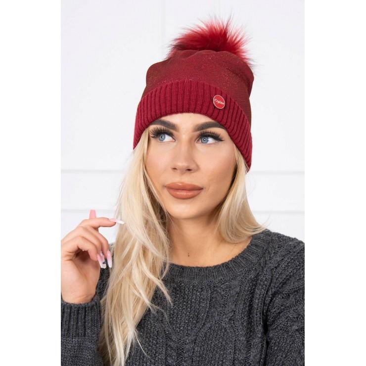 Dámska čiapka MIK146 červená