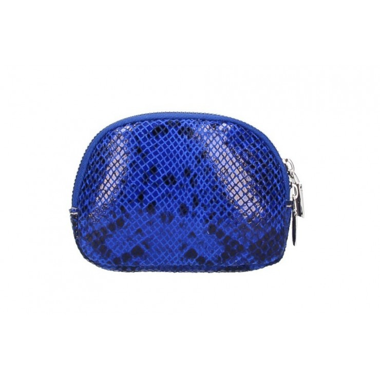 Leather Pouch 5348 bluette