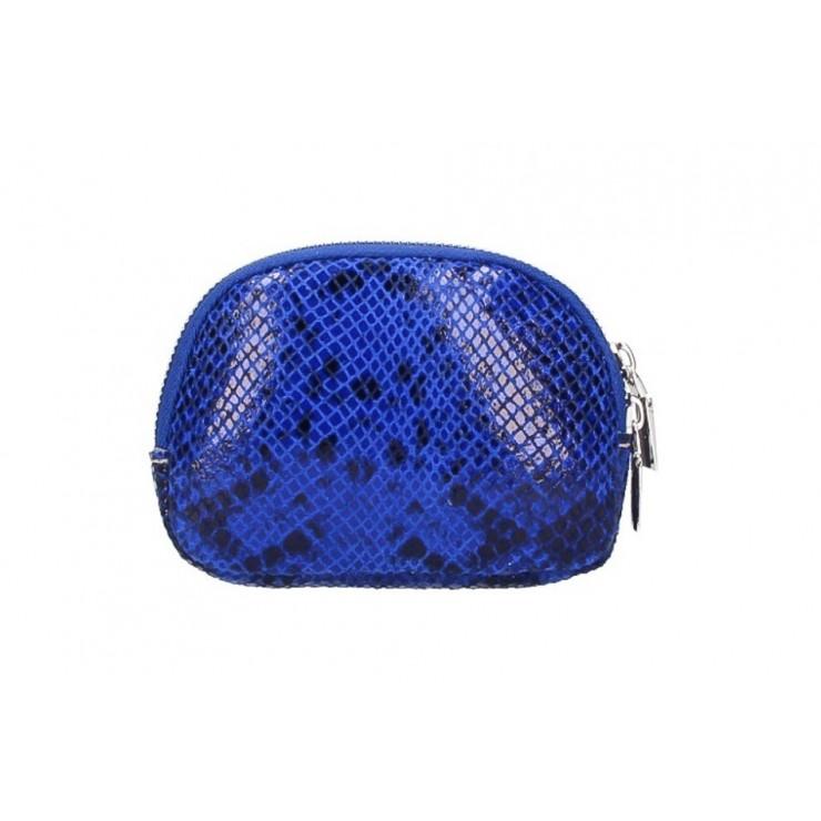 Leather Pouch 5348 bluette