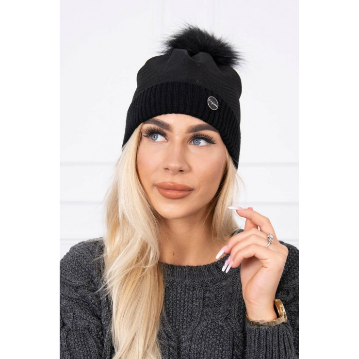 Women's Winter Hat MIK146 black
