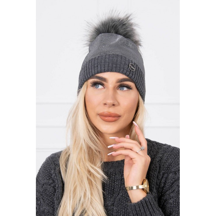 Women's Winter Hat MIK146 graphite