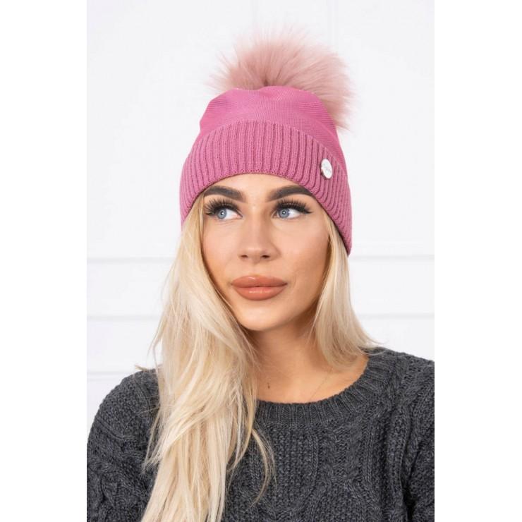 Dámska čiapka MIK146 ružová