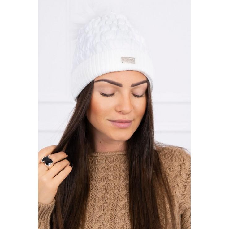 Dámska čiapka MIK160 biela
