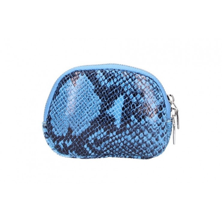 Leather Pouch 5348 light blue