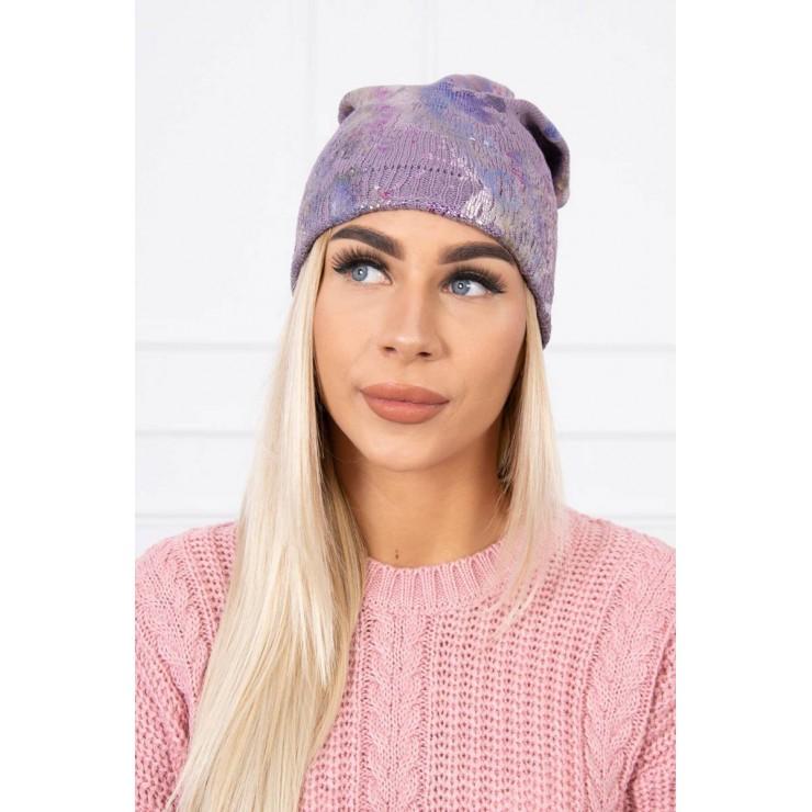 Dámska čiapka MIK141 fialová