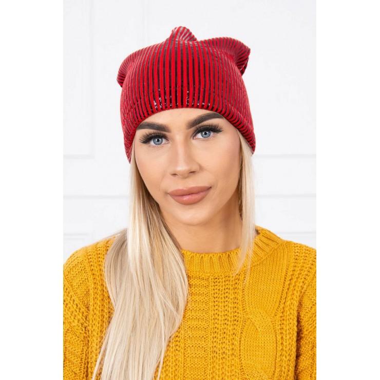 Dámska čiapka MIK142 červená