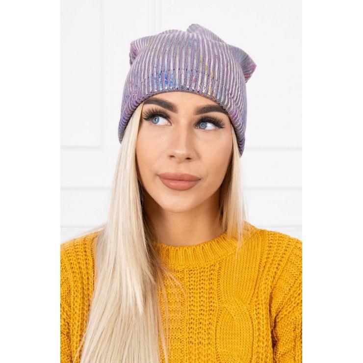 Dámska čiapka MIK142 fialová