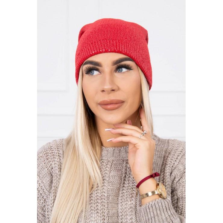 Dámska čiapka MIK143 červená