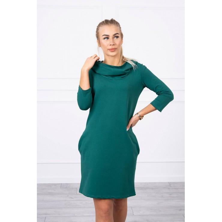 Šaty s kapucňou a vreckami MIG8847 zelené